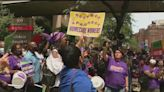 Hospital workers protest NY-Presbyterian's COVID vaccine mandate