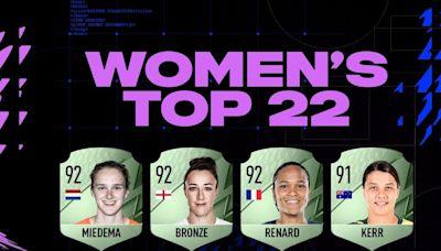 Las futbolistas de FIFA 22 muestran sus medias