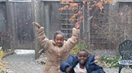 Refugee children adorably celebrate their first ever snowfall