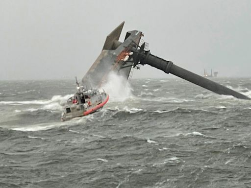 1 Person Dead, 12 Remain Missing After Ship Capsizes Off Louisiana Coast