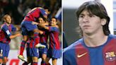 Barcelona's star-studded team Messi entered as a 17-year-old on senior debut