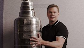 Matt Damon meets the Stanley Cup and learns a new rule