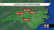 North Carolina travel stop and country store reports gas and diesel shortages due to pipeline shutdown