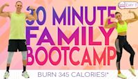 30 Minute Boot Camp Family Style! Burn 345 Calories!* 30 Day At-Home Workout Challenge | Day 11