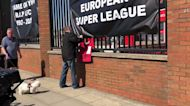 Liverpool Fans Protest European Super League at Anfield