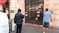 Entrance of Colombia's consulate in Paris defaced with red paint after soldiers admit to rape