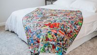 This Sherpa Throw Blanket Features 72 Retro Marvel Comic Book Covers