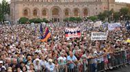 Armenia: Pashinyan supporters celebrate his election in Yerevan