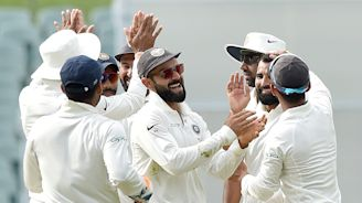 Australia lose four wickets, face defeat in record India run chase