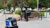 Kiwibot robots delivering food to NMSU campus community