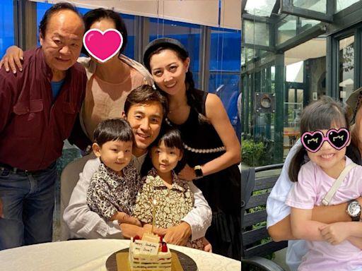 譚俊彥41歲生日曬全家福 狄龍太太陶敏明激罕露面氣質出眾