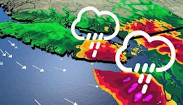 New burst of Pacific moisture slamming B.C. with heavy rain, and mountain snow