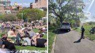 Bronx blogger captures images that show contrasting social distancing enforcement in NYC