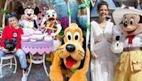 Stars Visit Disney Theme Parks