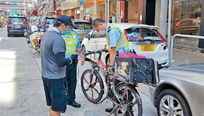 打擊違法送外賣電動車 港島區拘三非華裔司機