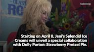 Dolly Parton and Jeni's Splendid Ice Creams Launch Strawberry Pretzel Pie Flavor
