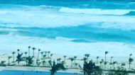 Strong Waves Churn Off Cancún Beach as Storm Zeta Hits Mexico