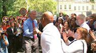 Adams kicks off general election campaign with de Blasio endorsement