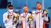 奧運體操女子平衡木項目 中國管晨辰唐茜靖包辦金銀牌