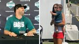 Watch Eagles' Nick Sirianni share adorable training camp moment with son