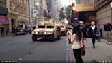 【錯誤】網傳影片宣稱「在美的家人傳來的視頻-紐約軍隊進城了。美國政府或許怕1977年紐約大停電... 引發的搶劫、暴動再度發生,今天軍隊已經陸續進駐...」?