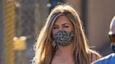 Staying safe, looking good: Jennifer Aniston stuns in $26 lace face mask