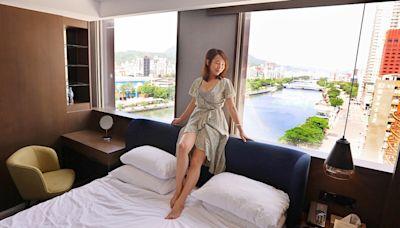 高雄住宿「河景客房」蛋形浴缸配上無敵視野,270度超美愛河風景,日景夜景一次擁有!