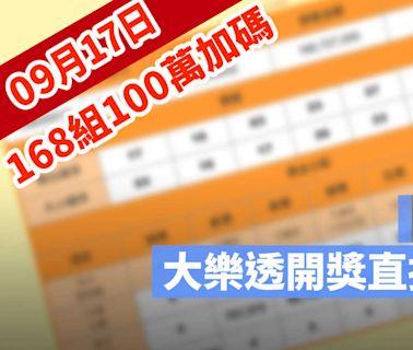 9月17日大樂透「168組100萬」加碼開獎:開獎號碼與加碼獎號查詢 - 蘋果仁 - 果仁 iPhone/iOS/好物推薦科技媒體
