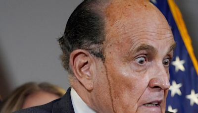 Trump, too, was 'unsettled' when Rudy Giuliani's hair dye melted and dripped down his face: book