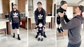Mom surprises husband by dressing baby like his identical twin: 'Omg, did you dress him just like me?'