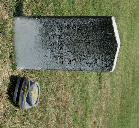 RobertCole's headstone at Camp Beauregard, KY.