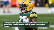 Packers rule out RB Aaron Jones (calf) for Sunday vs. Vikings