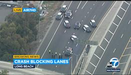 Deadly crash shuts down southbound 710 Freeway in Long Beach