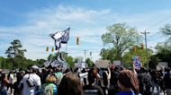 Andrew Brown Protesters March Through Elizabeth City