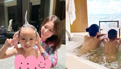 林芊妤同3歲「伯伯」全裸浸浴惹爭議 孫慧雪穿長袖幫仔洗頭