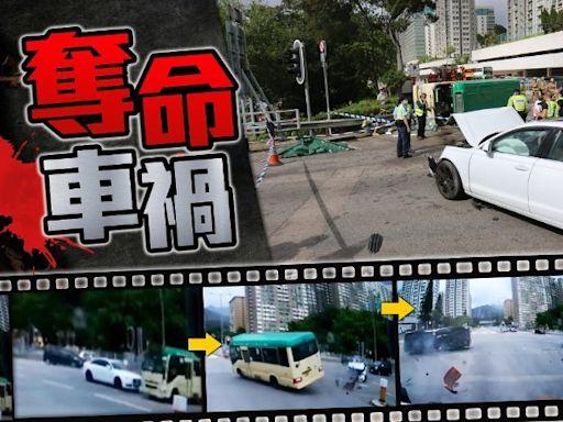 車Cam直擊:沙田大涌橋路私家車撞翻小巴 釀1死7傷