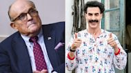 Borat Sends Message of Support to Rudy Giuliani After Controversial Film Scene | THR News