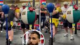 Watch Canelo show off brutal power punches on heavy bag ahead of Plant fight