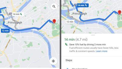 【省油新點子】使用Google地圖「環保路線」新功能 可惜台灣要等到2022年才可能有