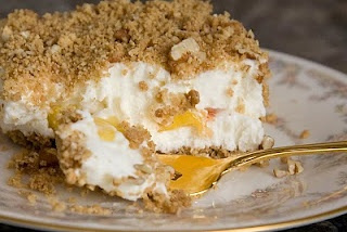 Peach Mallow Dessert | Pies, Puddings, Tarts Etc. | Pinterest