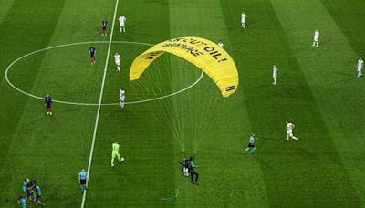 Greenpeace Protester Parachutes Into Euro 2020 Stadium, Injures 2
