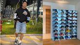 亞洲發燒星1/南宮珉練太壯穿衣改走休閒風 IG曬32雙球鞋總價竟破200萬元