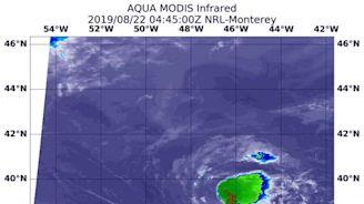 NASA's Aqua satellite finds a weaker Chantal, now a depression