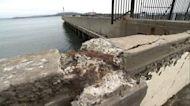 SF's historic Aquatic Pier rusting and crumbling away