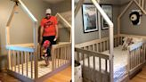 Dad builds one-of-a-kind bed for his toddler transitioning out of his crib