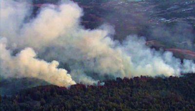 Cal Fire Battles Wildland Blaze Forcing Evacuations Near Watsonville