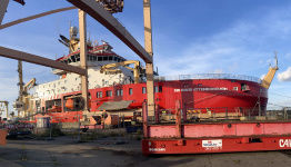Sir David Attenborough polar ship makes her London debut