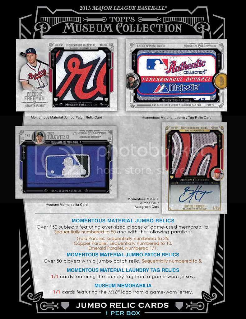 museum collection baseball hobby box 2015 topps museum collection ...