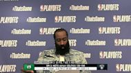 James Harden discusses chemistry between himself, Irving and Durant
