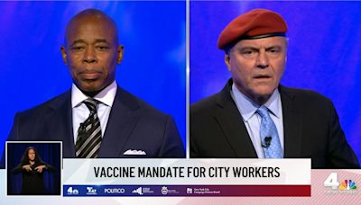 Eric Adams, Curtis Sliwa trade personal and policy barbs in fiery first NYC mayoral debate